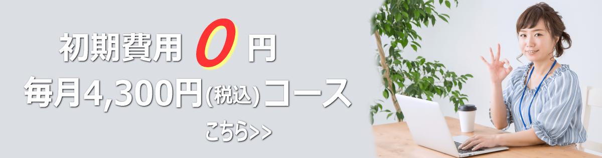 徳島の格安ホームページ制作、毎月4300円